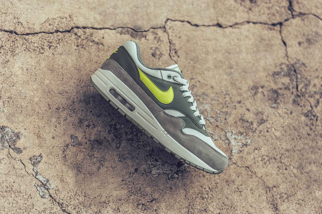 reputable site 1fed8 4c7c8 Nike s Air Max 1 ( 110) gets another new take for the upcoming season with  a Mica Green Volt makeover. This time around, the sleek silhouette is  treated to ...