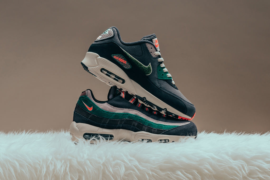 Nike prepares for the upcoming fall season with two muted renditions to the Air  Max 90 ( 140) and Air Max 95 ( 170) silhouettes. For their latest design a7584cc535c5