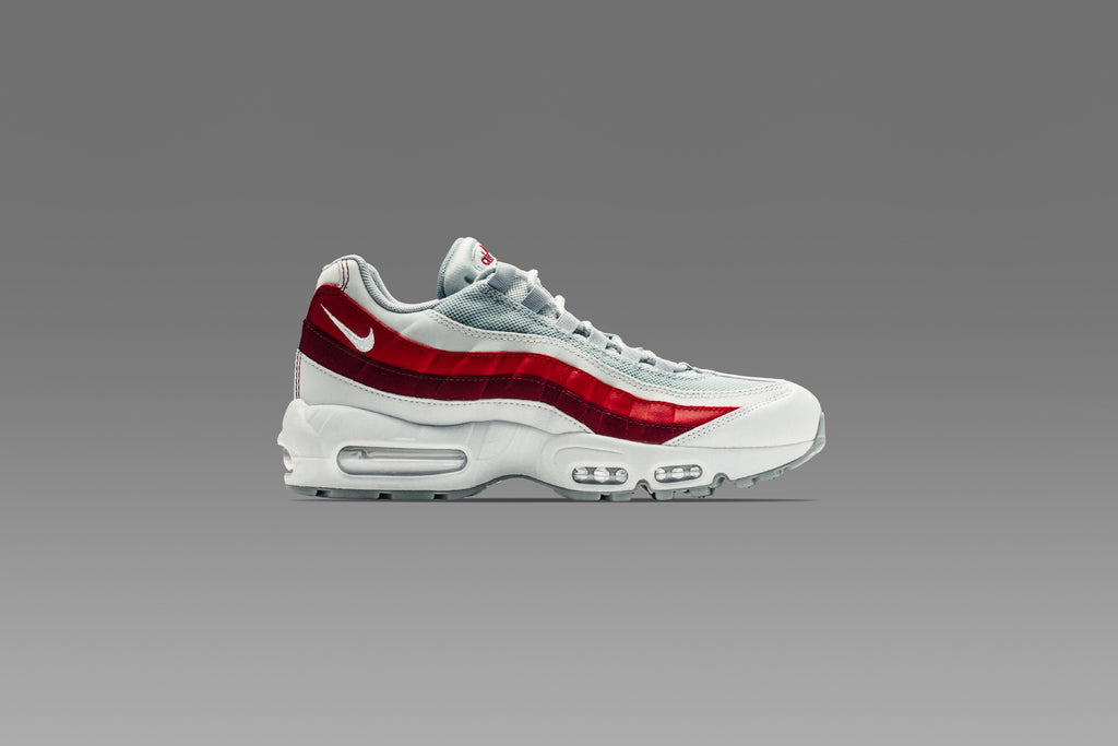 Nike Air Max 95 Wolf Grey Team Red Available Now Feature