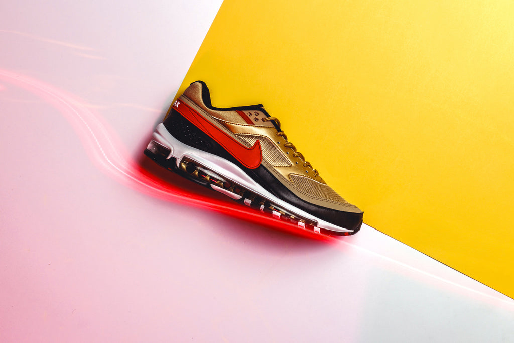 Nike Air Max 97 Bw Metallic Gold University Red Available Now