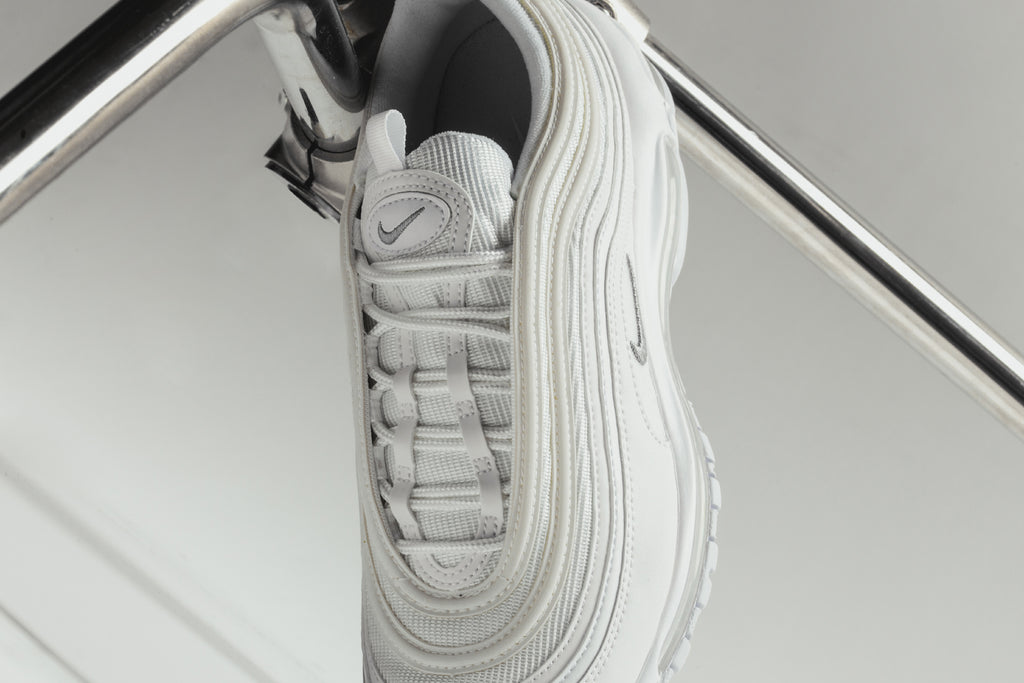 Nike Air Max 97 OG White Wolf Grey Reflective Lifestyle Men Run Shoes 921826 101