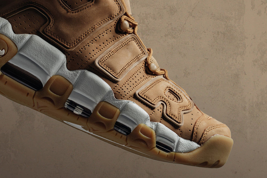9037b475b0 For its latest installment, Nike dresses the Air More Uptempo '96 in a  premium buttery wheat-colored suede ...