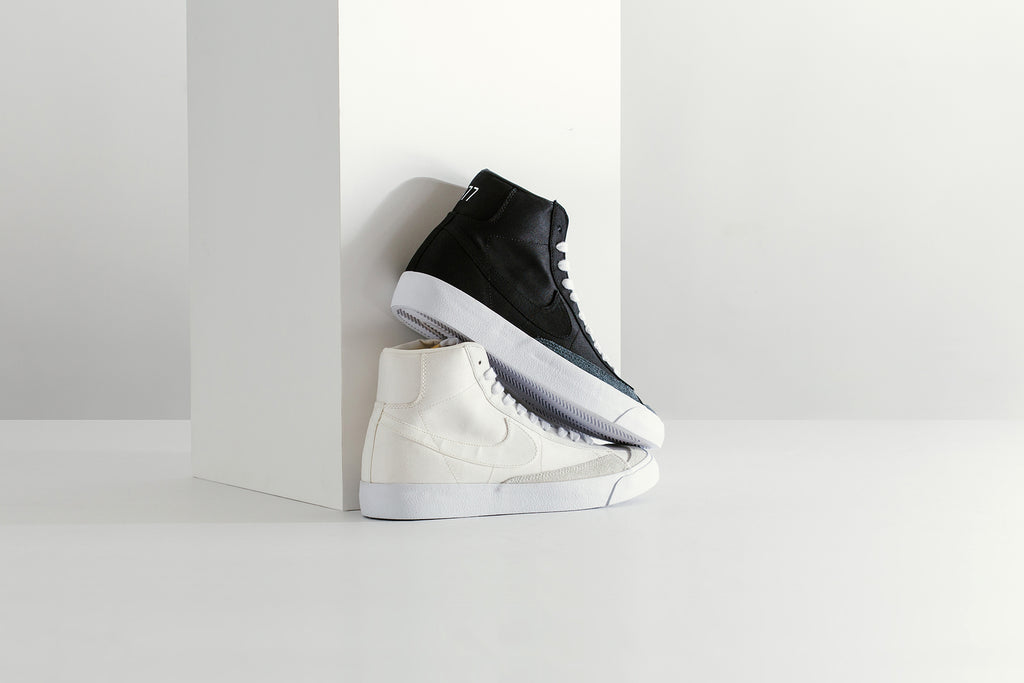 pretty nice 6c69a ec1fe ... set of Blazers to kick off the Spring and Summer seasons ( 100). This  duo of iconic throwbacks are presented in a premium white or black leather  upper, ...