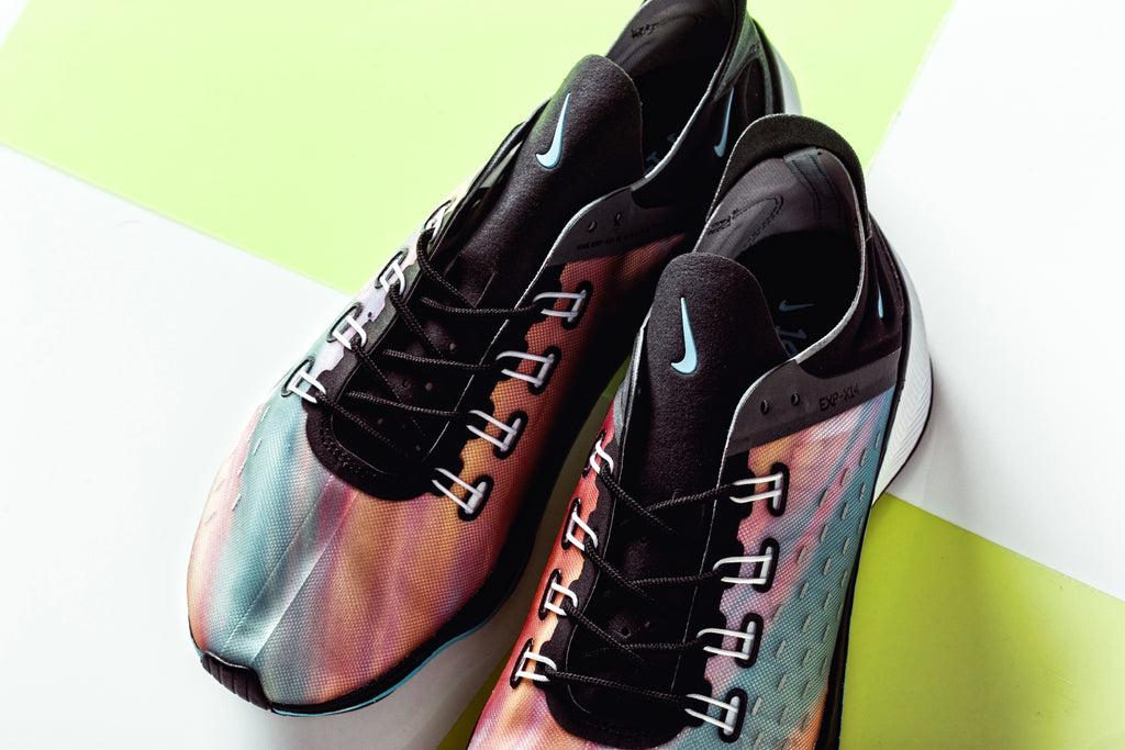 reputable site f94c2 1f2f1 ... debuted EXP-X14 silhouette. Sporting a watercolor-gradient effect on  the upper, the latest rendition features a multicolor palette with black  and grey ...