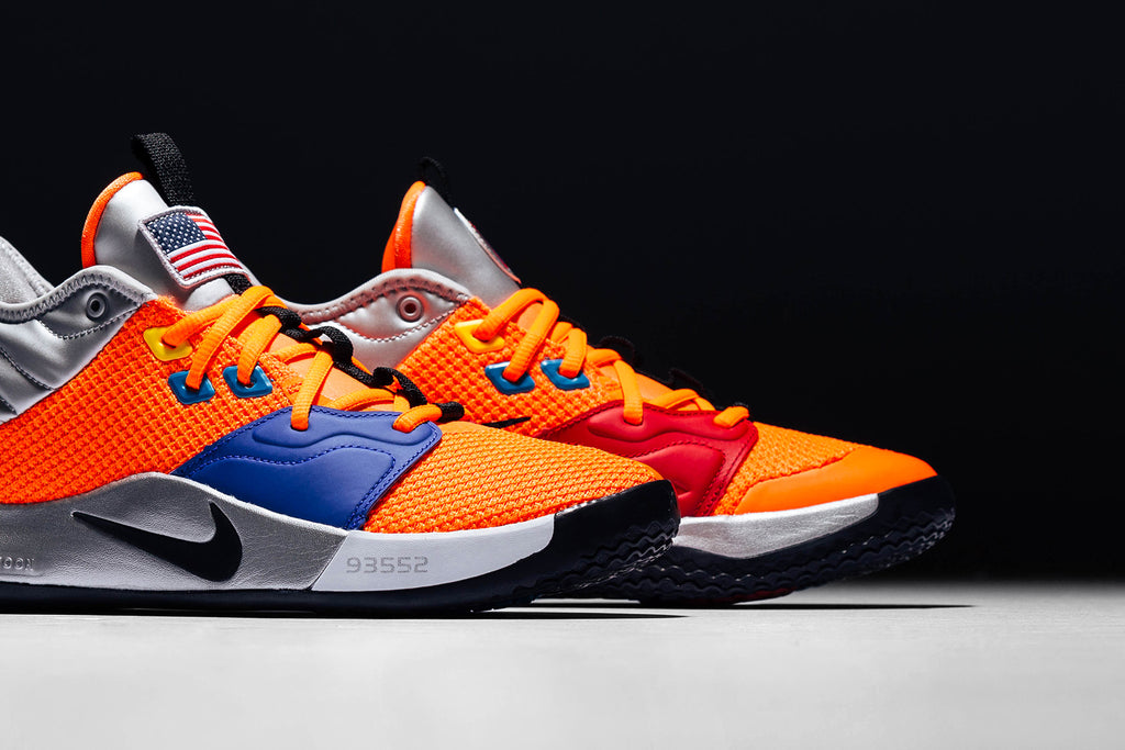 738573dfda6f3 Nike collaborates with NASA to present a futuristic rendition of the Paul  George's third signature shoe the PG3 ($120). NASA pays homage to Paul  George's ...