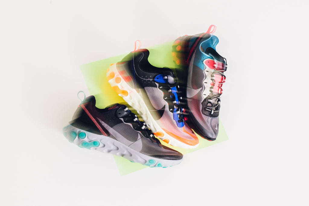 100% genuine sold worldwide lace up in Nike Element React 87' – Feature