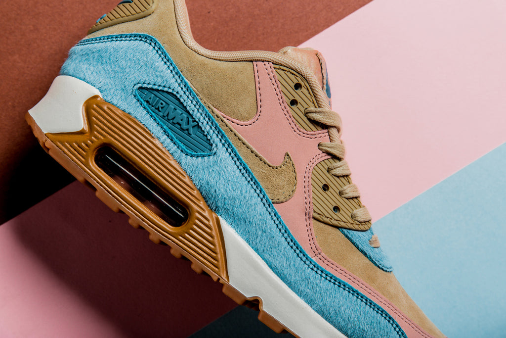 Nike's iconic Air Max 90 silhouette ($130) receives another women's take  for the upcoming season. The latest offering features pony hair and leather  upper ...