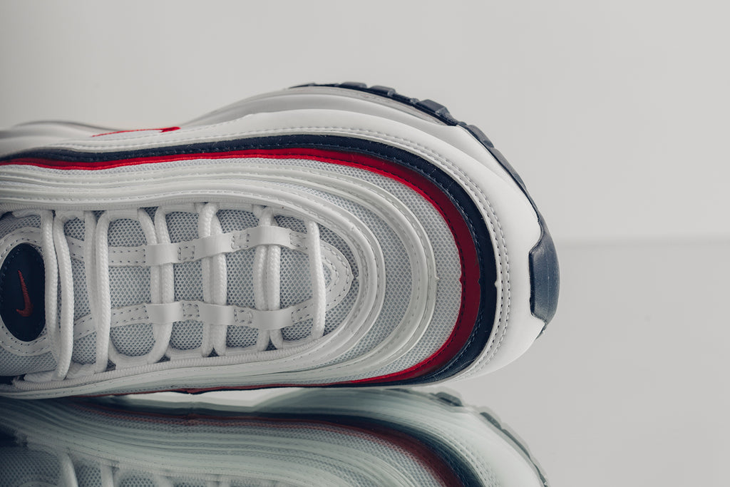 Nike Women S Air Max 97 White Red Crush Available Now Feature