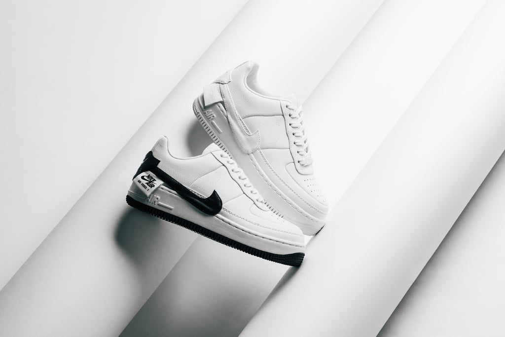 f637725000cc6 Nike is back with two minimalistic updates to the seasonal favorite Women's  Jester XX silhouette. The classic Air Force 1 upper arrives in a crisp white  ...