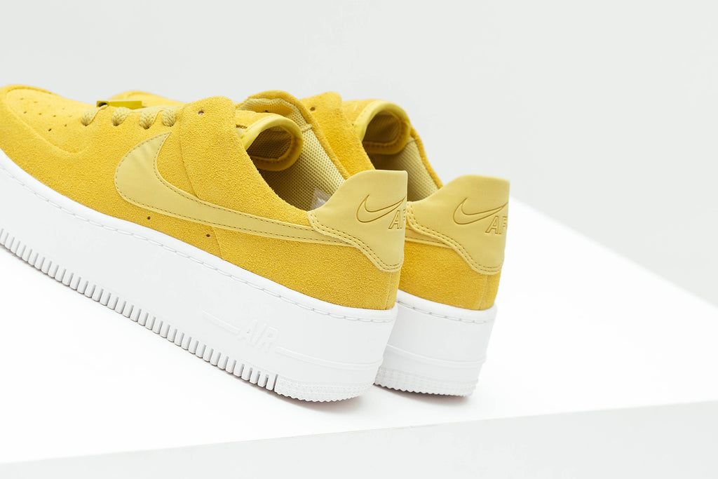 69bacc443d883 Nike shows off a new iteration of the women's Air Force 1 Sage Low,  featuring primarily a bright yellow ready for spring and summer ($100).