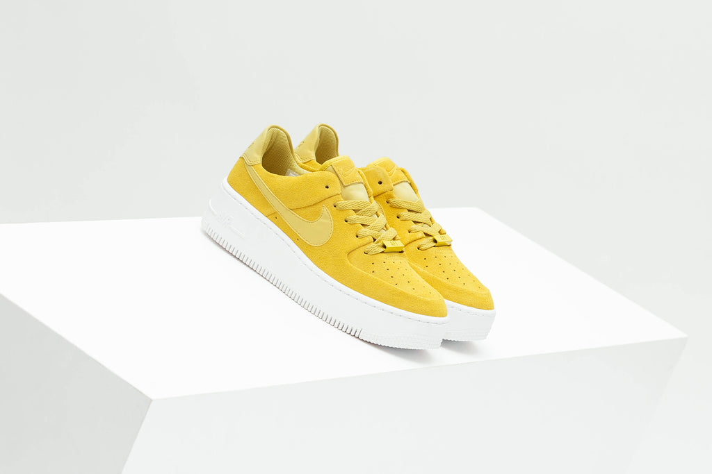 separation shoes 59512 d7118 Nike shows off a new iteration of the women s Air Force 1 Sage Low,  featuring primarily a bright yellow ready for spring and summer ( 100).