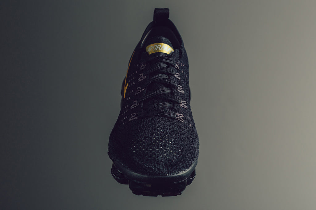 2fb4dd7f9a4 Nike presents a subtle rendition to the Women s VaporMax Flyknit 2  silhouette ( 190). This time we see the sneaker dawned in a tonal black  motif with subtle ...