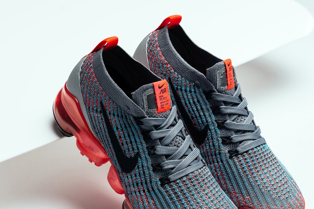 5b4ff1d78bdc Nike presents women with their own rendition of the latest model in the  VaporMax line the Flyknit three ( 190). The upper kicks off with a knitted  upper ...