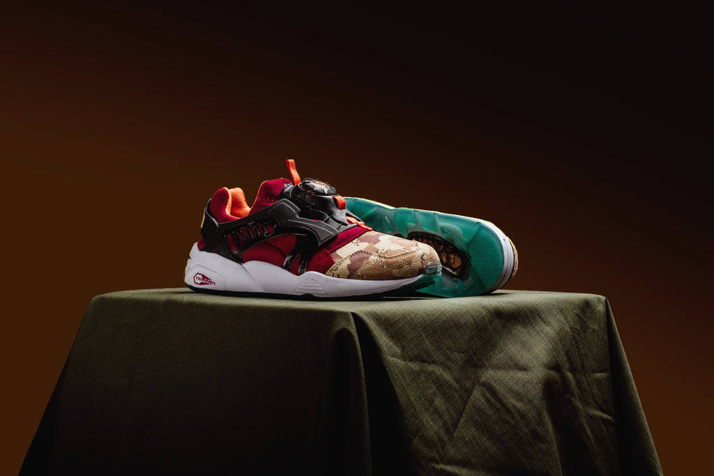 4a217448f16 ... Desert Dusk Dark Navy Ribbon Red  Puma has teamed up with Titolo and  Atmos to give the iconic Disc Blaze model ...