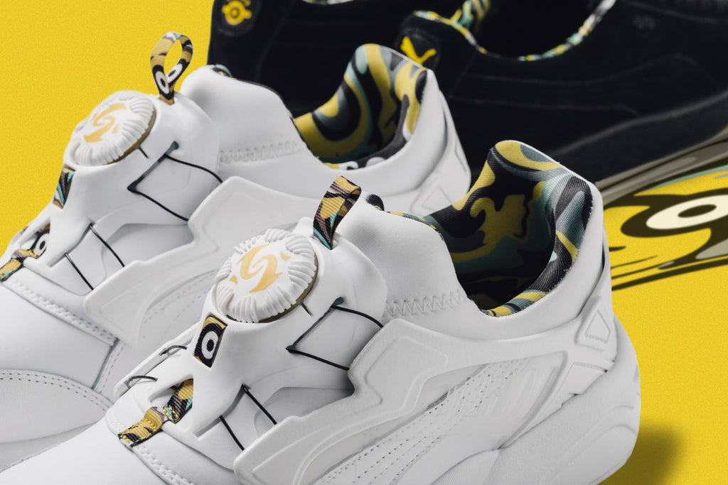 c24239579095 Puma teams up with the famous Despicable Me characters for a fun-filled  Minion-takeover on two of their most iconic silhouettes.