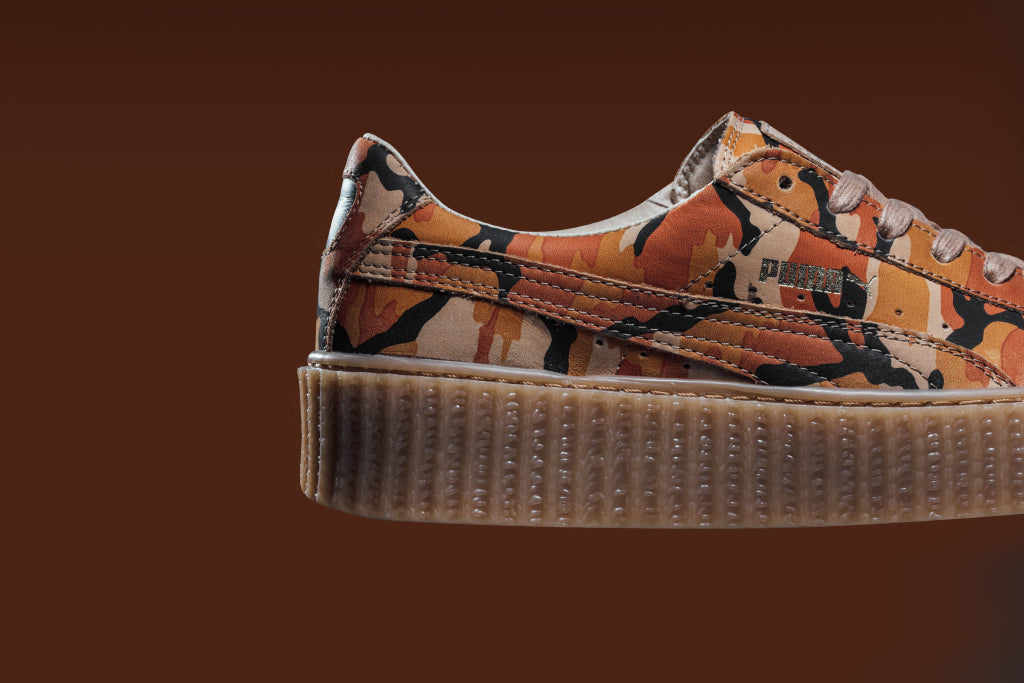 puma x rihanna fenty 39 camo 39 creeper coming soon feature. Black Bedroom Furniture Sets. Home Design Ideas