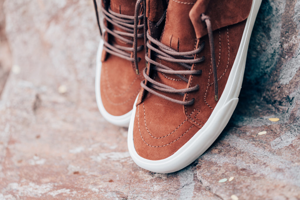 84bdbe8738 Vans CA Pig Suede SK8-Mid Moc In Tortoise Shell Blanc Available Now ...