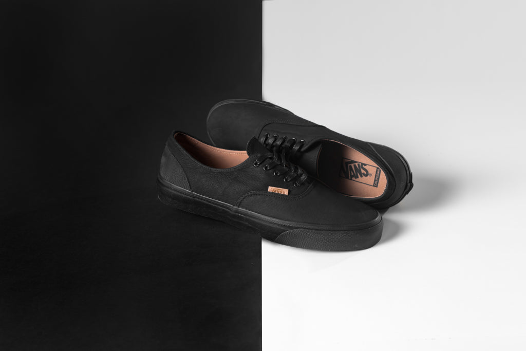 cfa87f423f Vans CA Mono Leather Era Decon In Black Rubber Available Now – Feature  Sneaker Boutique
