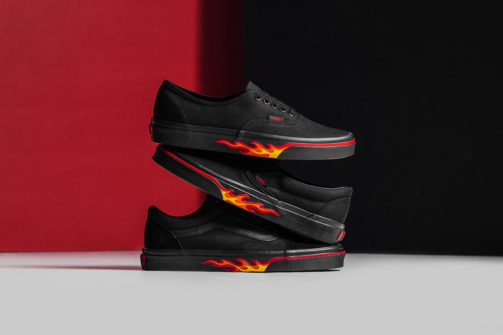 0e83af1d6b07 Vans  Flame Wall  Collection Available Now – Feature Sneaker Boutique