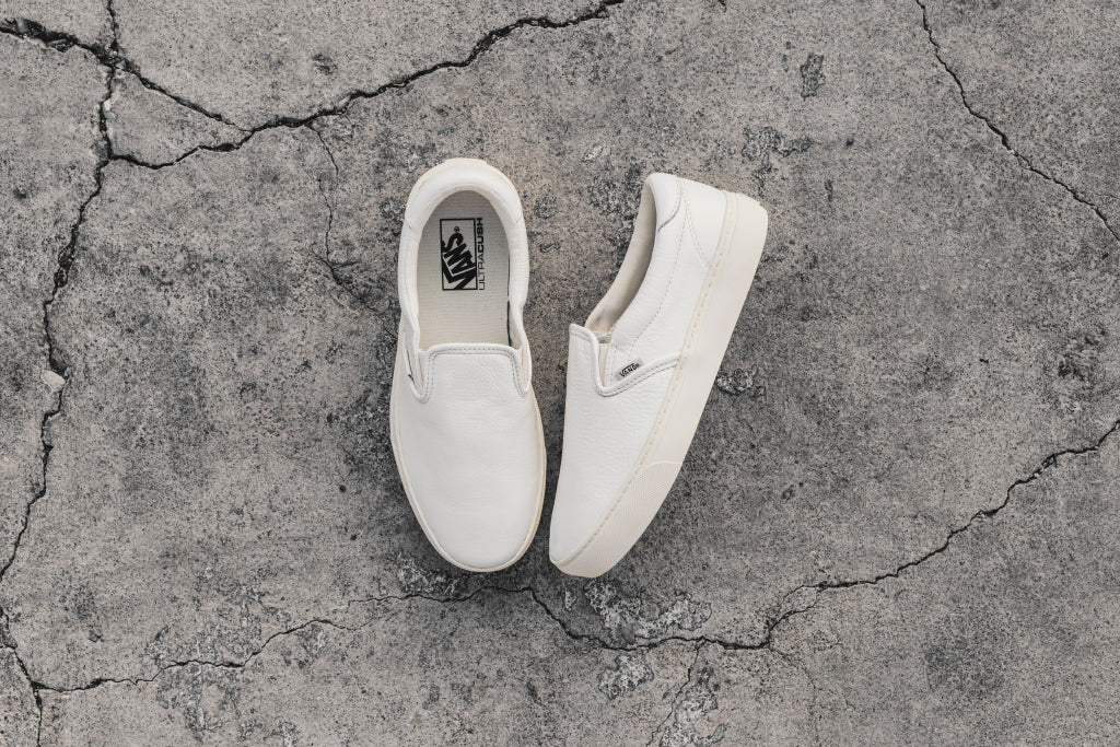 204dc439a17 Vans Leather Slip-On 59 Cup In Whisper White Available Now – Feature  Sneaker Boutique