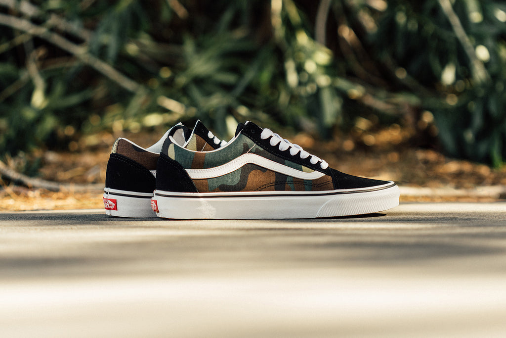 5a91debafe19 Vans gives their iconic Old Skool silhouette ( 60) a new camo design as  part of their spring delivery. This time around