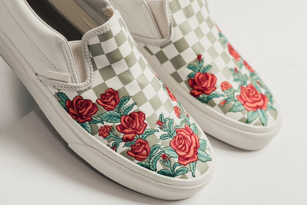 b269e1b0a5f vans classic slip on dx rose embroidery