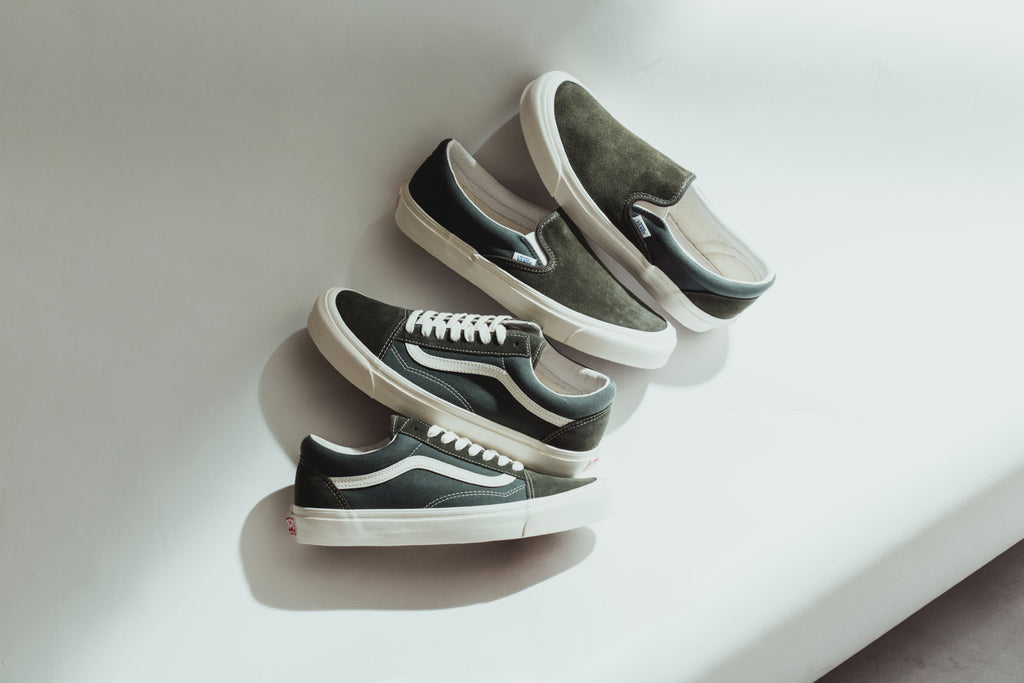 890f85631b4 Forest Green Vans OG Old Skool LX   OG Classic Slip-On LX – Feature Sneaker  Boutique