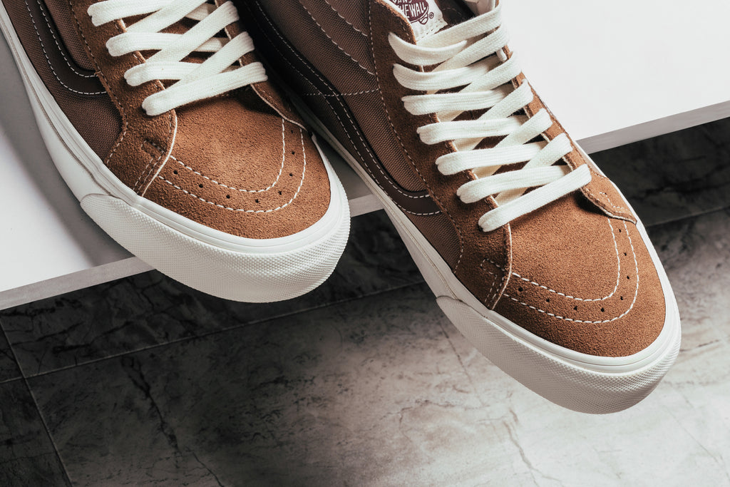 3879fa1c6828b8 Vans Vault expands their seasonal offering with four new takes to the  classic Sk8-Mid silhouette ( 75). This time around
