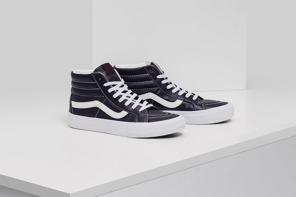 e2c7518e06 Vans Vault is back this season with a trio of new Sk8-Hi s ( 125). The  latest offering features premium Italian Leather constructions along with  perforated ...