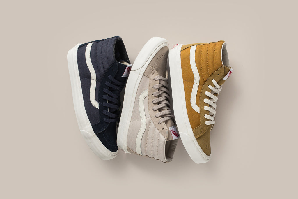 Vans Vault has released an OG Sk8-Hi LX ( 70) collection for Spring Summer  2017. Offered in a Blue Night 6e17863e91ca