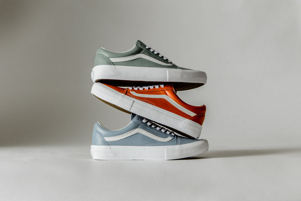 Vans Vault returns with a follow up collection to their recent Italian  Leather Sk8-Hi pack. The latest arrangement features three new Old Skool LX  ( 120) ... 88e8c13395