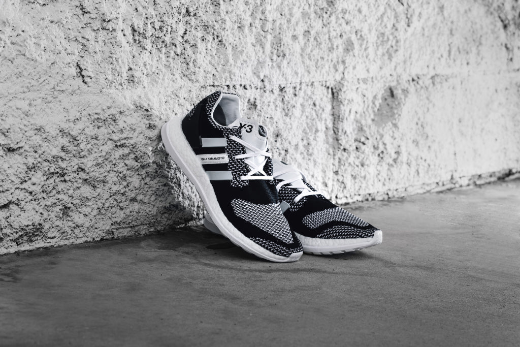 1b092bf7b Y-3 Pure Boost ZG Knit in Black White Available Now – Feature Sneaker  Boutique