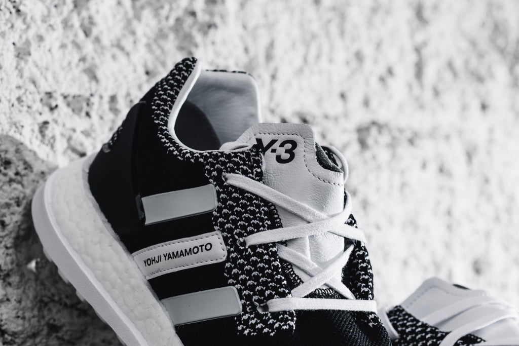 90a39e489026e Y-3 Pure Boost ZG Knit in Black White Available Now – Feature ...