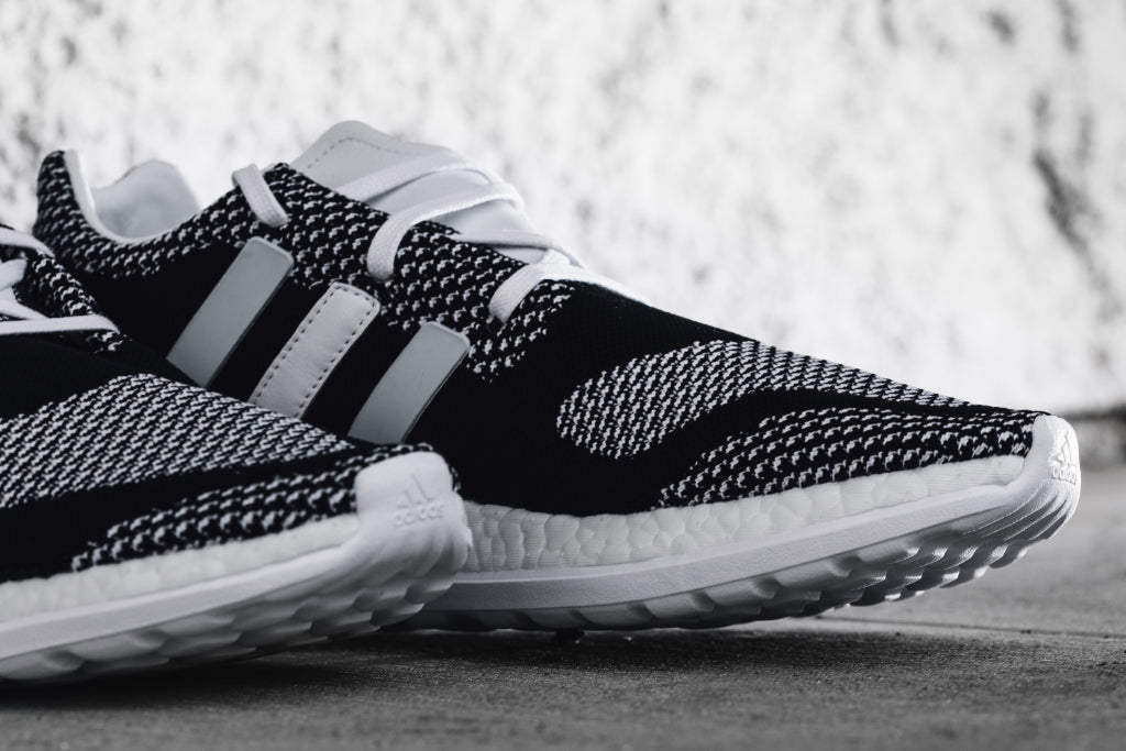 1eb4cb39f Y-3 Pure Boost ZG Knit in Black White Available Now – Feature ...