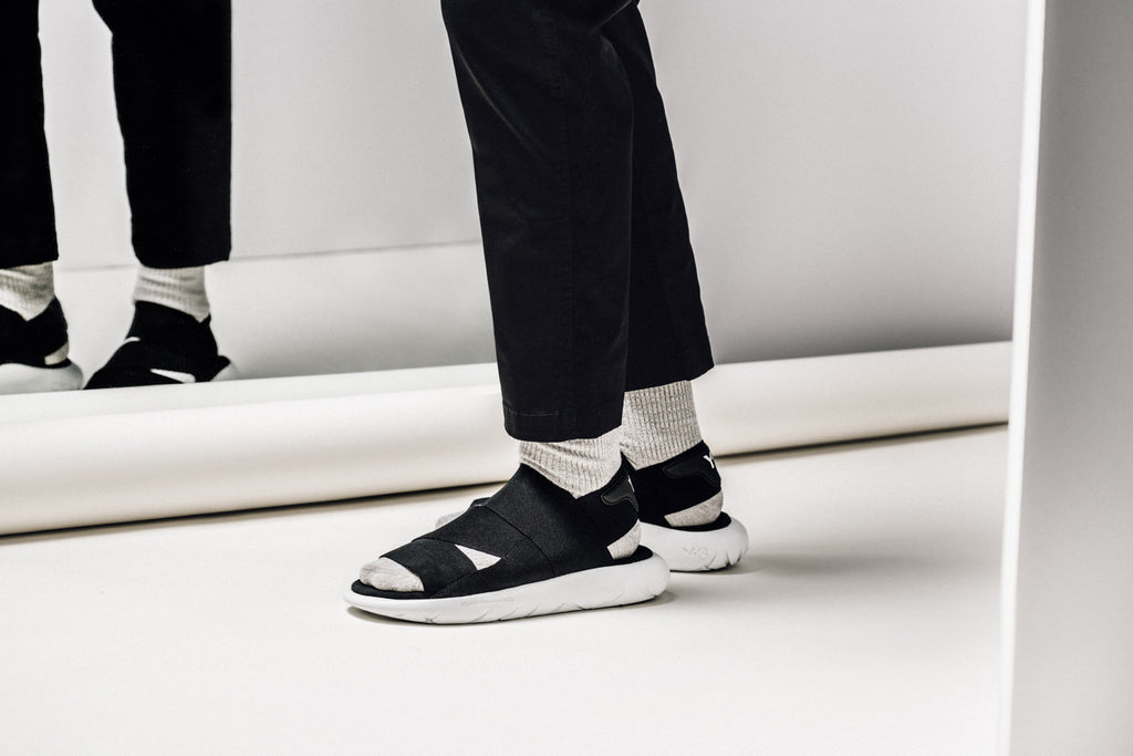 34472b81e Y-3 Qasa Sandal In Core Black White Available Now – Feature Sneaker Boutique