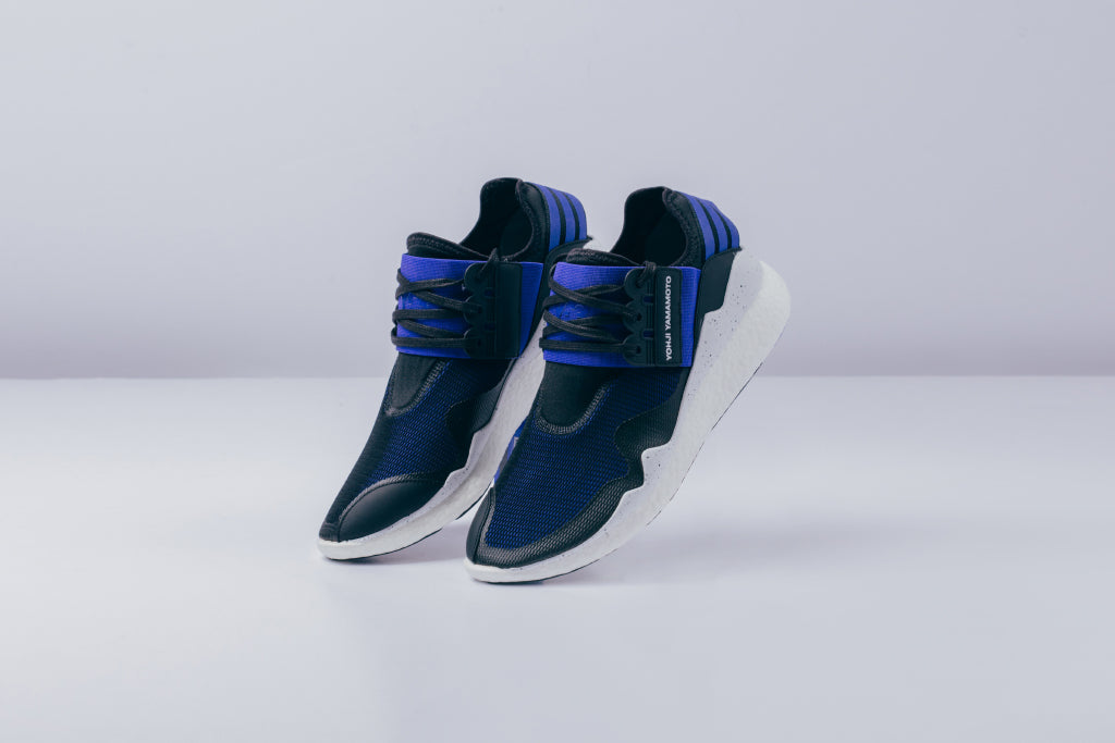 03bc03278412a Y-3 delivers a fresh rendition to their Retro Boost model ( 365) as an  addition to their expansive collection. This silhouette is dressed in a  blue micro ...