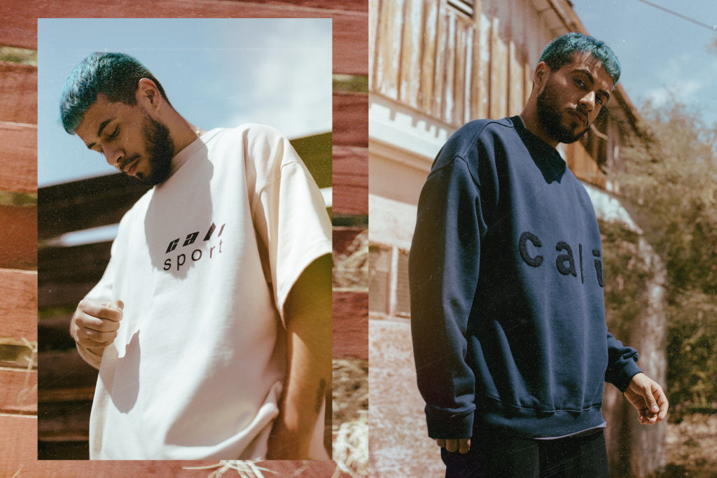 """cbaa31bc Kanye West's Yeezy label is back with a small delivery from their Season 5  collection. The latest assortment includes the """"CALI"""" crew, College Crest  ..."""