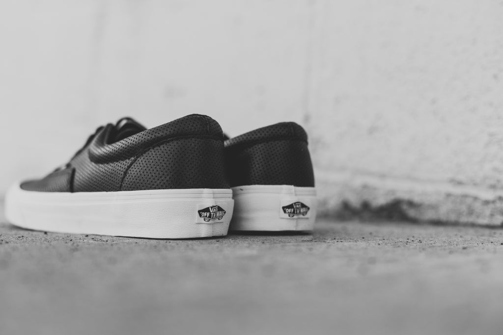 0848f68a040531 Vans Perf Leather Era In Black Available Now – Feature Sneaker Boutique