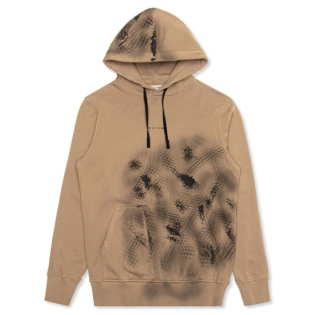 1017 ALYX 9SM Logo and Treatment Hoodie - Tan