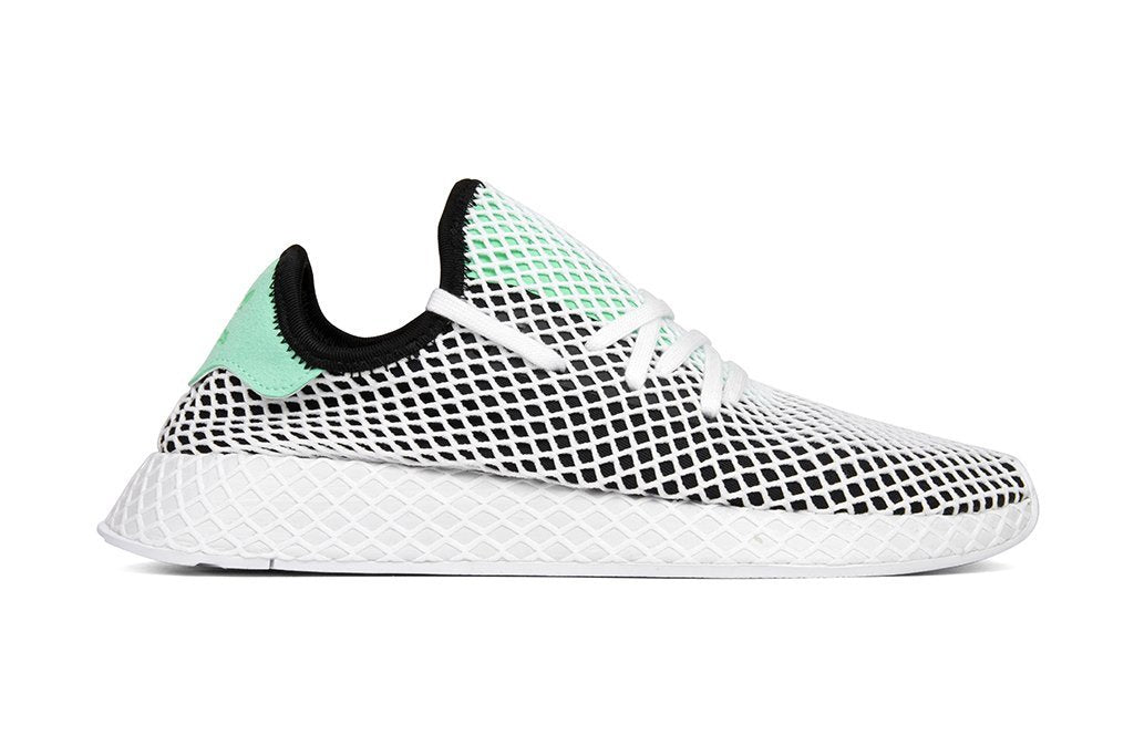 20dd77f76d1e2 ... Adidas Originals Deerupt Runner in Core Black Green Flat White B28076