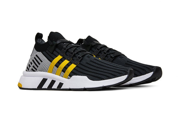 Adidas Originals EQT Support Mid ADV Primeknit - Core Black/EQT Yellow/Flat White