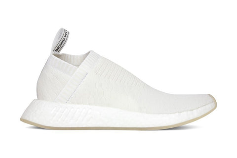 Adidas Originals Women's NMD_CS2 Primeknit - Core White-Core White - BY3018 Side