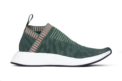 Adidas Originals Women's NMD_CS2 Primeknit - Trace Green/Trace Pink : BY8781 Side
