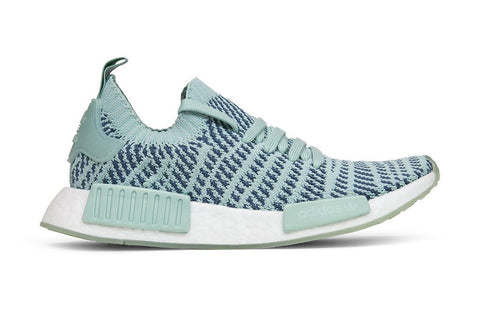Adidas Originals Women's NMD_R1 STLT Primeknit - Ash Green/Raw Steel/Flat White