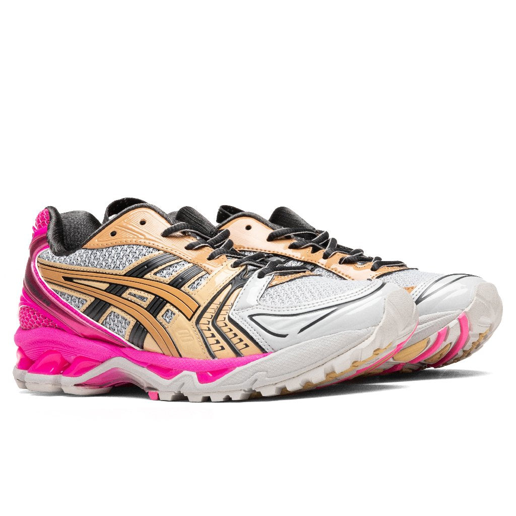Asics Women's UB1-S Gel-Kayano 14 - Oyster Grey/Pink Glow – Feature