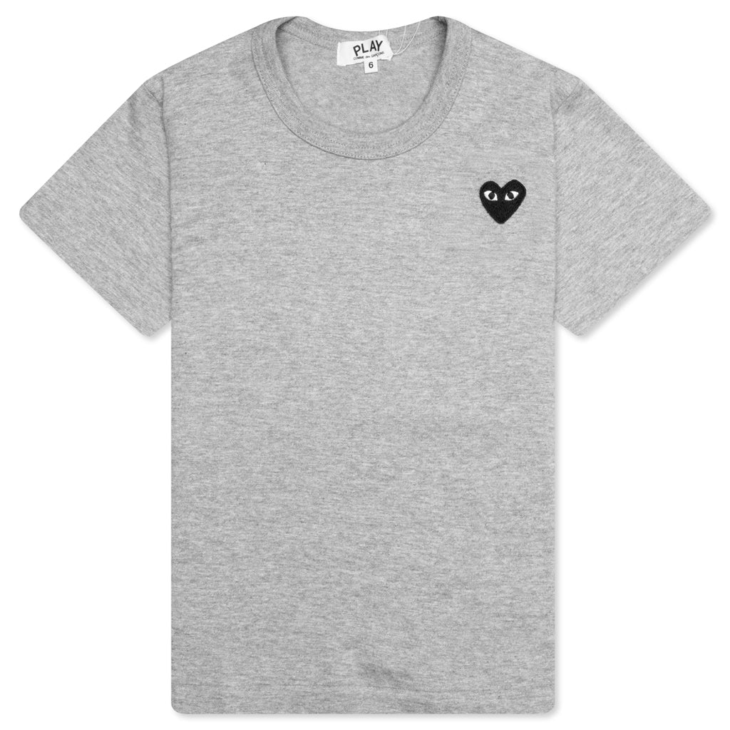 Comme des Garcons PLAY Kid's Black Emblem T-Shirt - Grey