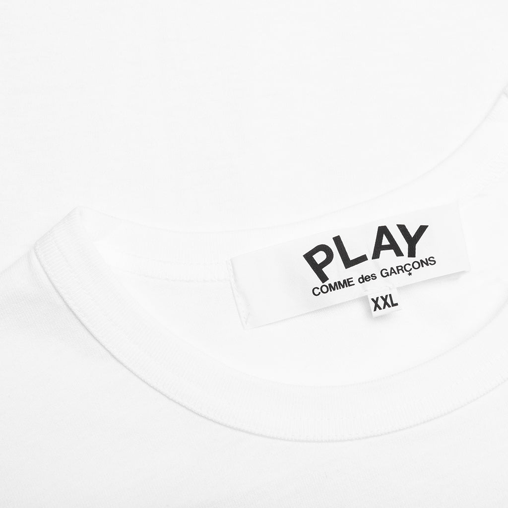 Comme des Garcons PLAY Small Emblem T-Shirt - White