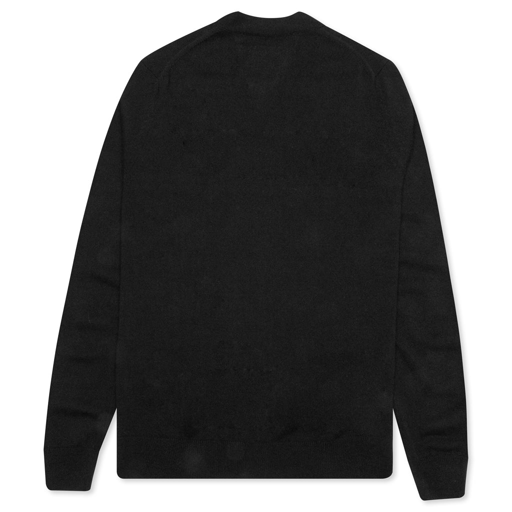 Comme des Garcons PLAY V-Neck Cardigan - Black