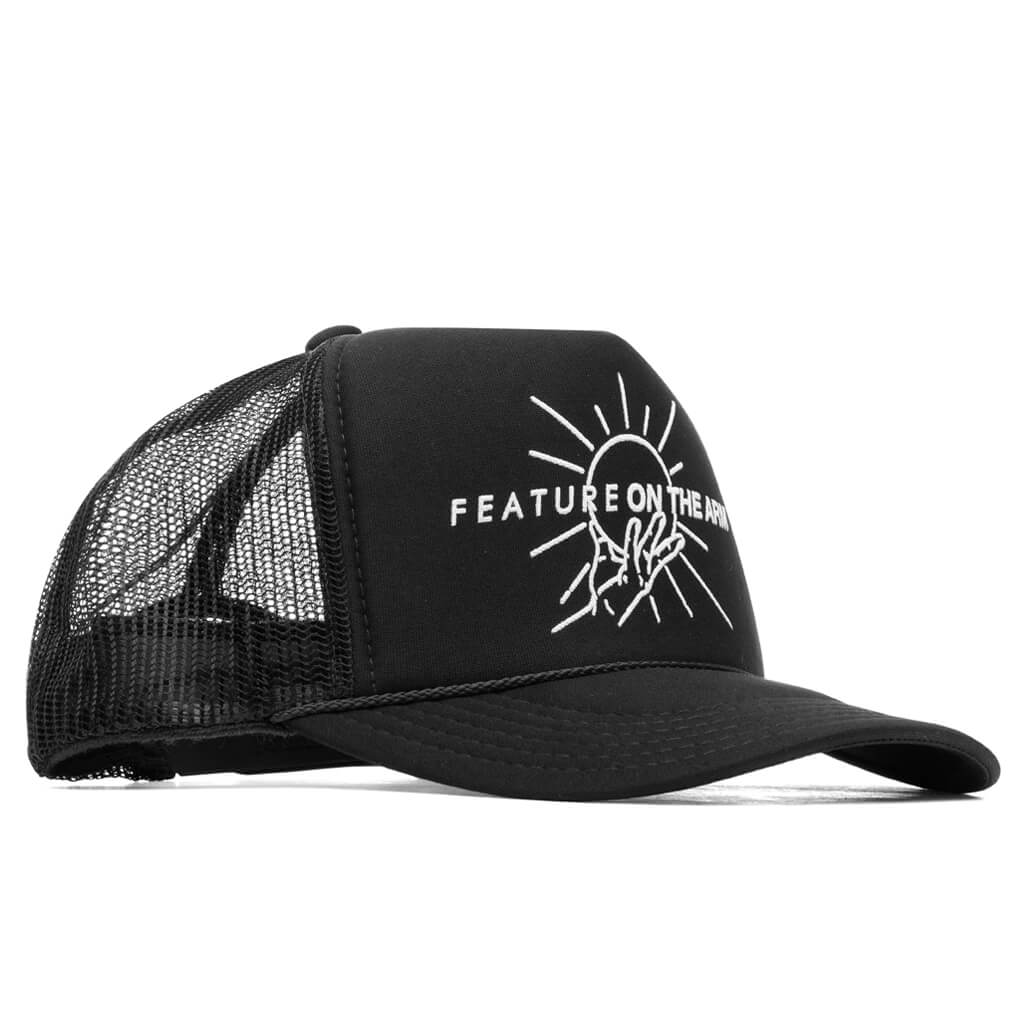 Feature x On The Arm Dual Logo Trucker - Black