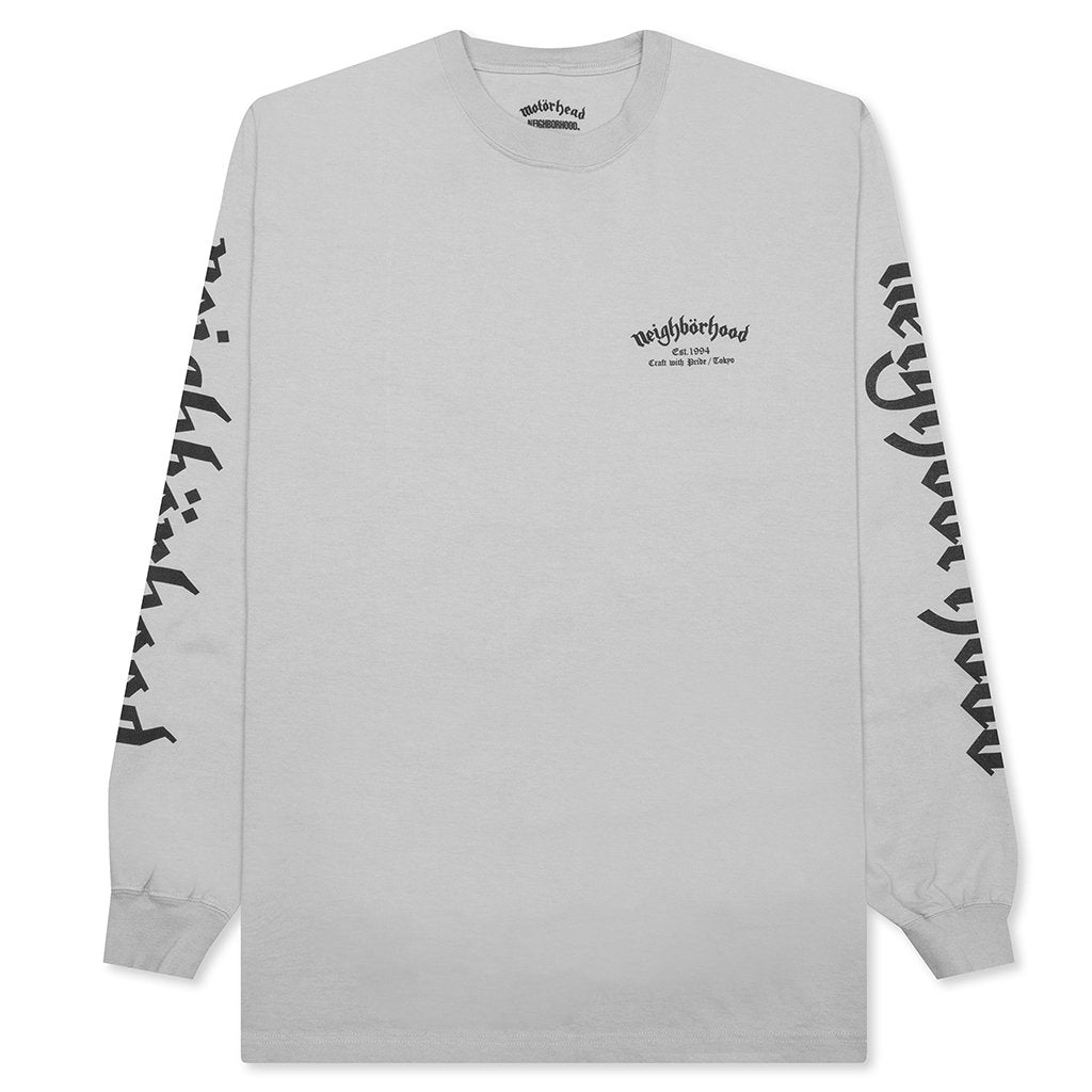 Neighborhood x Motor Head 2 L/S C-Tee - Grey